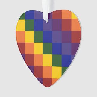 Checkered Rainbow Ornament