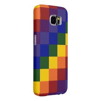 Checkered Rainbow Samsung Galaxy S6 Cases