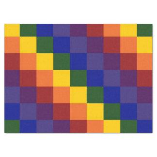 Checkered Rainbow Tissue Paper