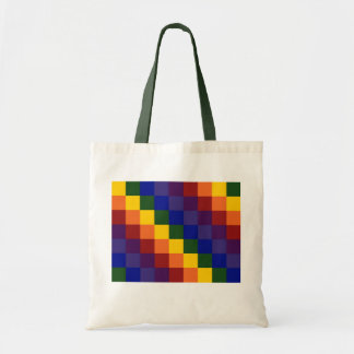 Checkered Rainbow Tote Bag