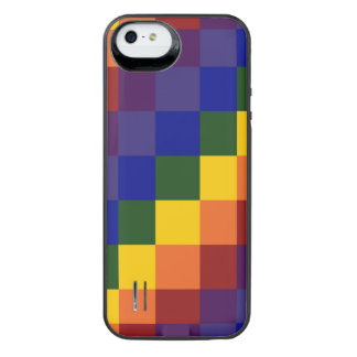 Checkered Rainbow Uncommon Power Gallery™ iPhone 5 Battery Case