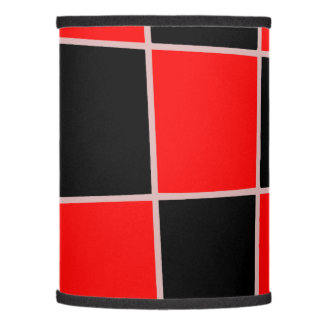 Checkered red and black customizable lamp shade