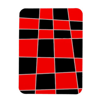 Checkered red and black customizable magnet