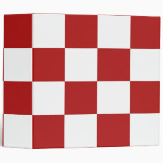 Checkered Red and White Binder