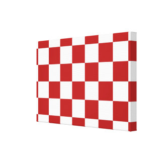 Checkered Red and White Canvas Print