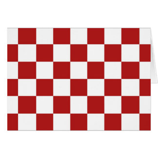 Checkered Red and White Card