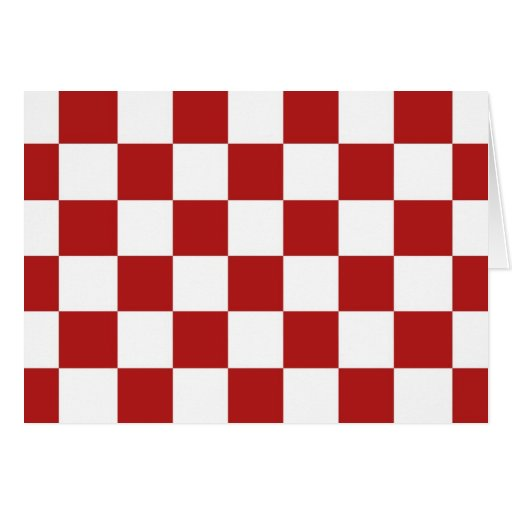 Checkered Red and White Cards