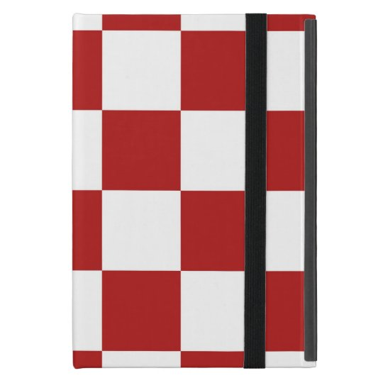 Checkered Red and White Case For iPad Mini