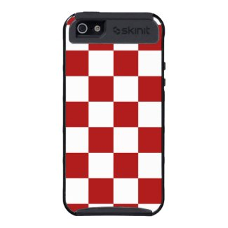 Checkered Red and White
