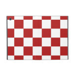 Checkered Red and White iPad Mini Covers