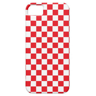 Checkered Red and White iPhone SE/5/5s Case