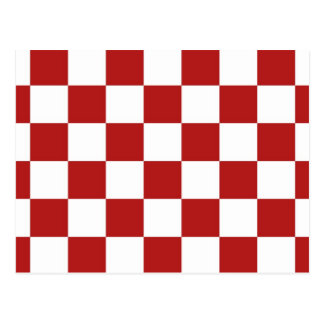 Checkered Red and White Postcard