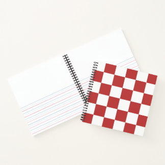 Checkered Red and White Sketch Practice Notebook