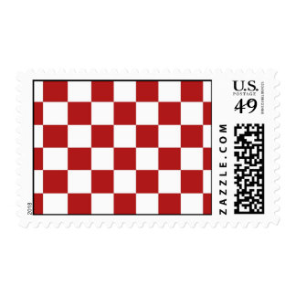 Checkered Red and White Stamp