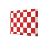 Checkered Red and White Stretched Canvas Print