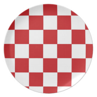 Checkered Red Dinner Plates
