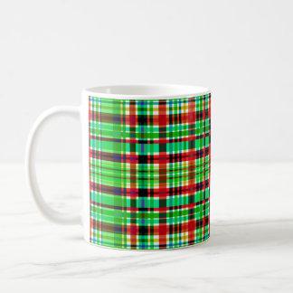 """""""Checkered Red & Green"""" 325 ml  Classic White Mug"""