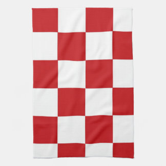 Checkered Red Towels