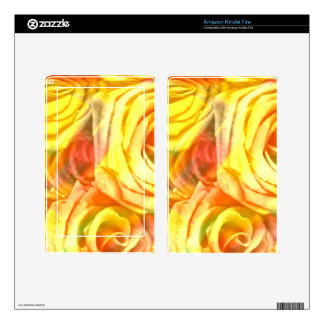 checkered roses yellow kindle fire skin