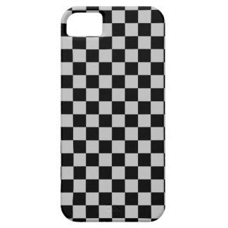 Checkered Silver and Black iPhone SE/5/5s Case