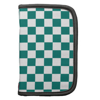 Checkered Small - White and Pine Green Organizer