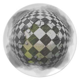 Checkered sphere 2 plate