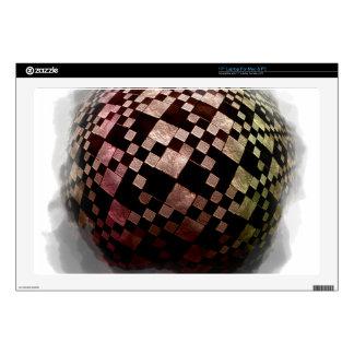 "Checkered sphere skin for 17"" laptop"