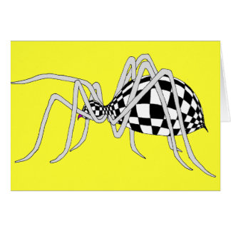 Checkered Spider Card