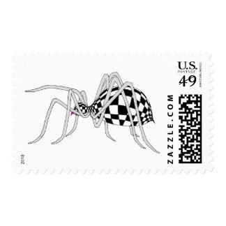Checkered Spider Postage Stamp