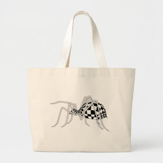 Checkered Spider Tote Bag