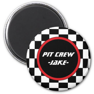 Checkered Square 2 Inch Round Magnet