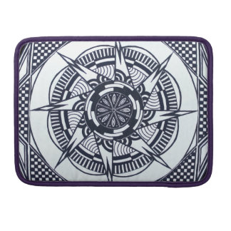 Checkered Star Mandala Macbook Sleeve / Cover Sleeves For MacBook Pro