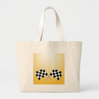 checkered symbol large tote bag