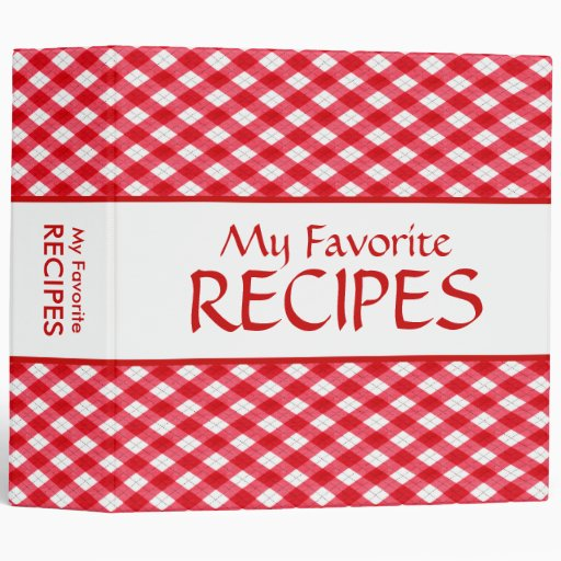 Checkered Tablecloth Recipe Binder
