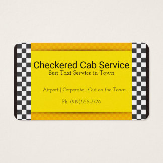 Checkered Taxi Business Card