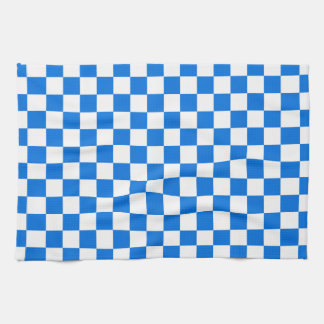 Checkered Tile Pattern Hand Towel