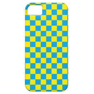 Checkered Turquoise and Yellow iPhone SE/5/5s Case