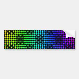 Checkered Twist Bumper Sticker