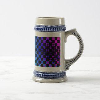 Checkered Twist by Kenneth Yoncich Beer Stein