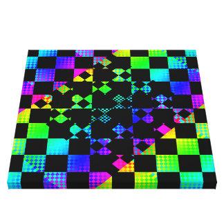 Checkered Twist by Kenneth Yoncich Canvas Print