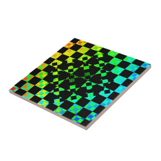 Checkered Twist by Kenneth Yoncich Ceramic Tile