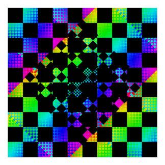 Checkered Twist by Kenneth Yoncich Poster