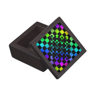 Checkered Twist Gift Box Premium Trinket Boxes