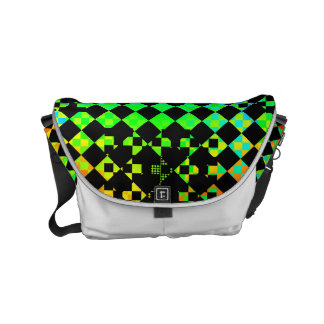 Checkered Twist Small Messenger Bag