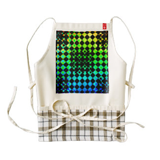 Checkered Twist Zazzle HEART Apron