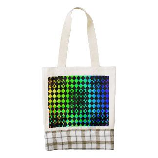 Checkered Twist Zazzle HEART Tote Bag