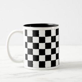 Checkered Two-Tone Coffee Mug