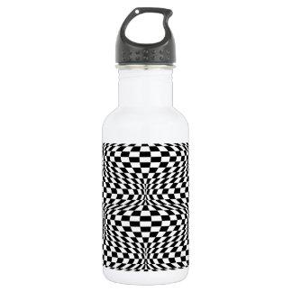 Checkered Warp Stainless Steel Water Bottle