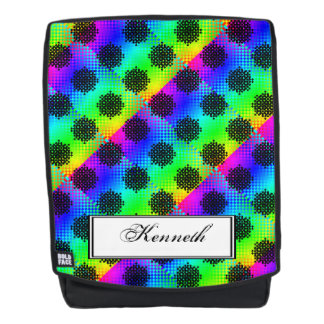 Checkered Wheels by Kenneth Yoncich Backpack