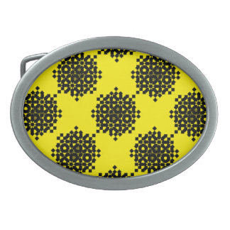 Checkered Wheels by Kenneth Yoncich Belt Buckle